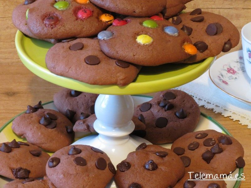 Galletas de chocolate sin huevo.